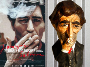 Joaquín Sabina en papel maché