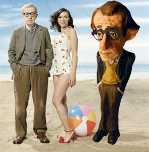 Figura de papel maché de Woody Allen