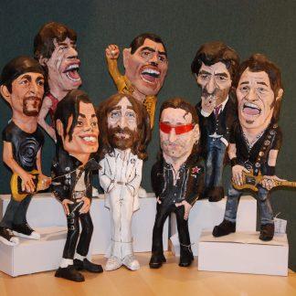 Figuras de músicos famosos