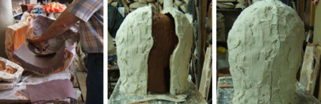 Caracoles de atrezzo en papel maché