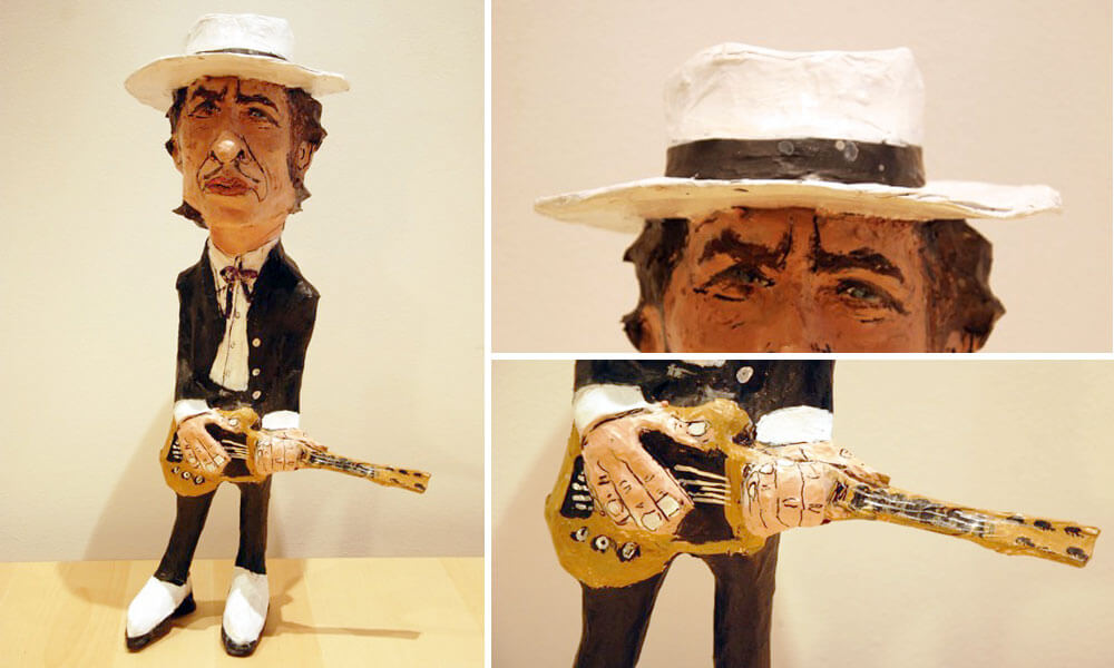 Bob Dylan figuras de papel maché