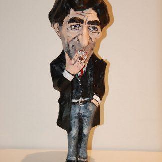 Figura de papel mache del cantante Joaquin Sabina